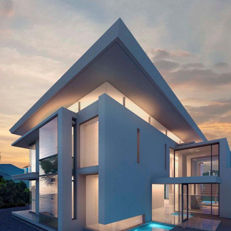 Render Exterior de una Villa