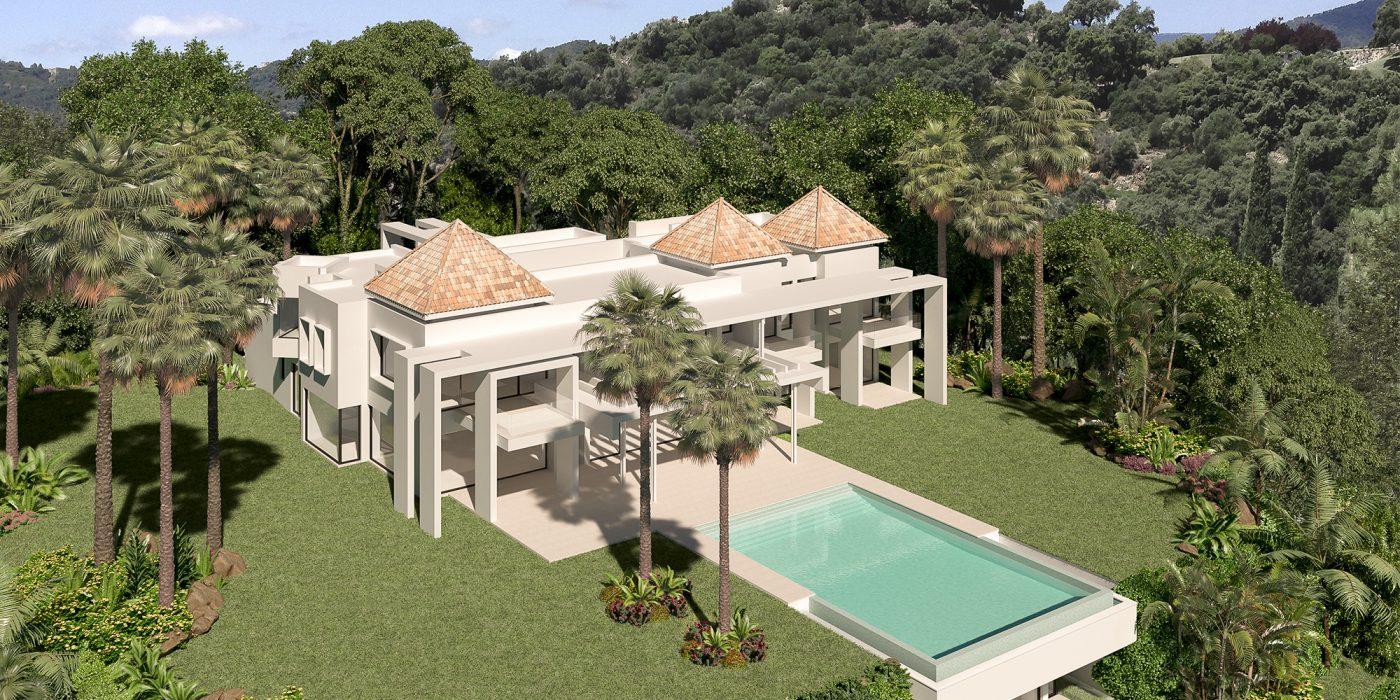 Render Exterior de una Villa La Zagaleta
