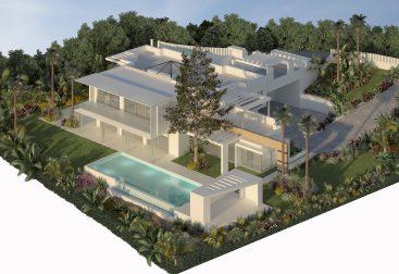Render Exterior de una Villa en Marbella